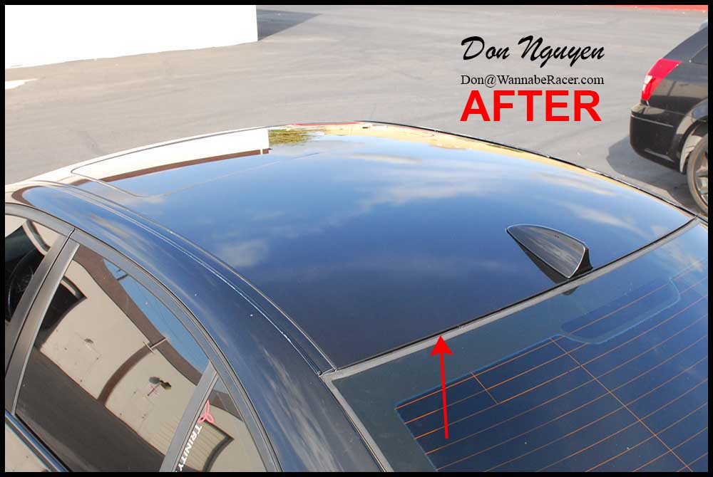 Don Nguyen Vinyl Roof Wrapping Tail Light Tinting Black Out Chrome Trim Install Page 8
