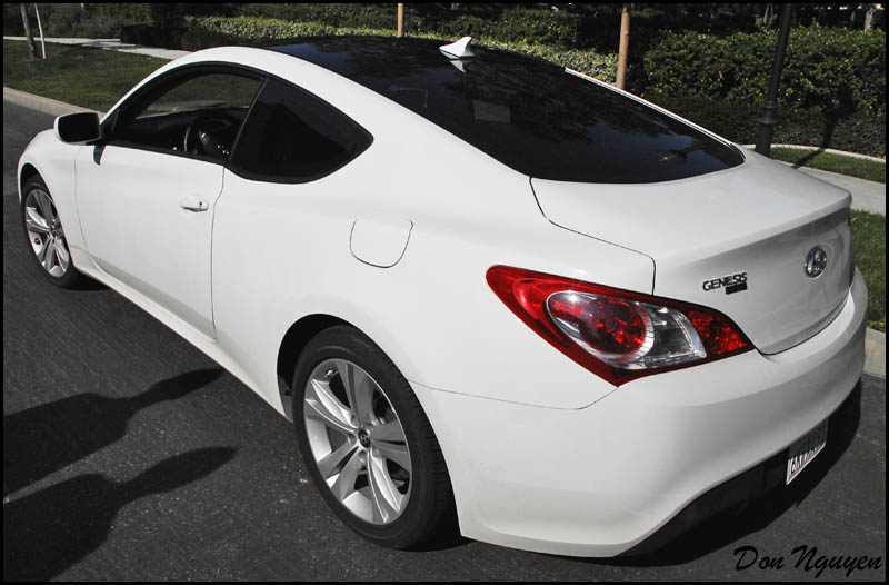 Black Roof Installed On A White Genesis Pictures