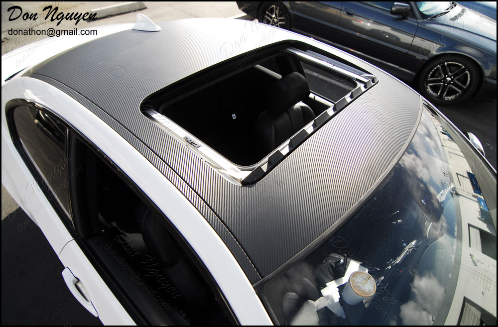 Don Nguyen 3m Di Noc Carbon Fiber Roof On A White E92 M3