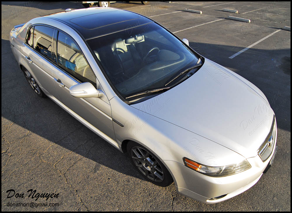 Don Nguyen Gloss Black Vinyl Roof Wrap Silver Tl Type