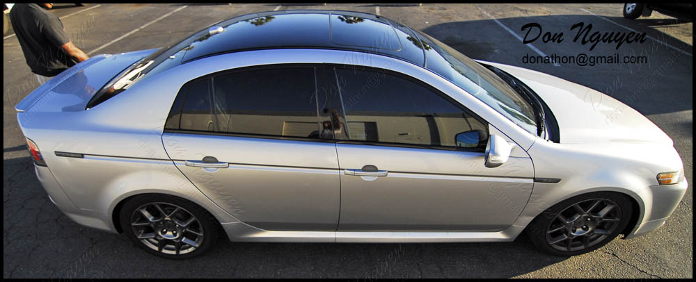 Don Nguyen Gloss Black Vinyl Roof Wrap Silver Tl Type S