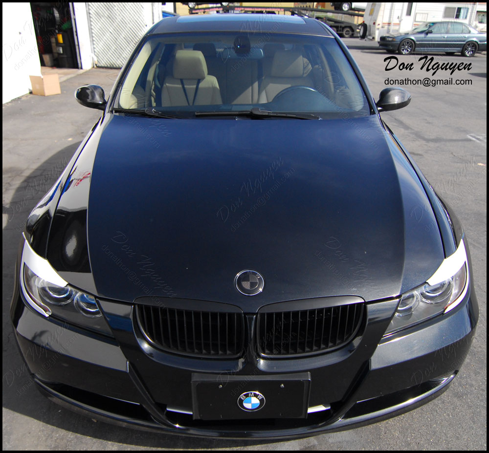 Irvine Bmw >> Gloss/Matte Black and Carbon Fiber Roof Vinyl Wrap