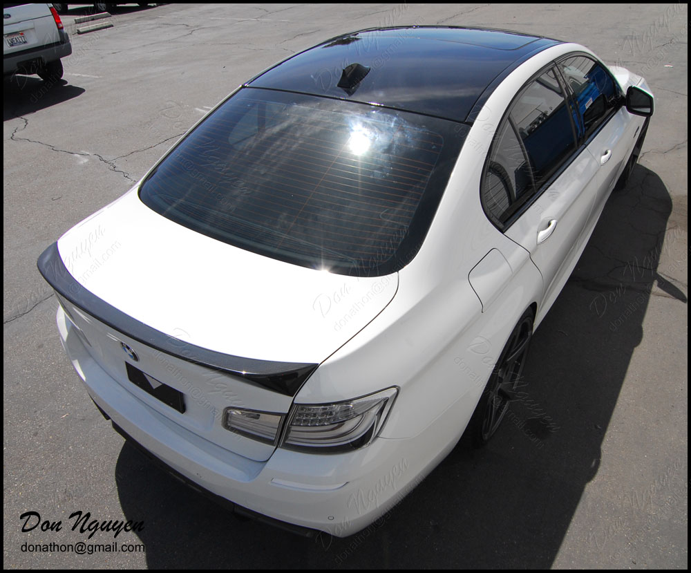Don Nguyen Gloss Black Vinyl Roof Wrap White F10 550i