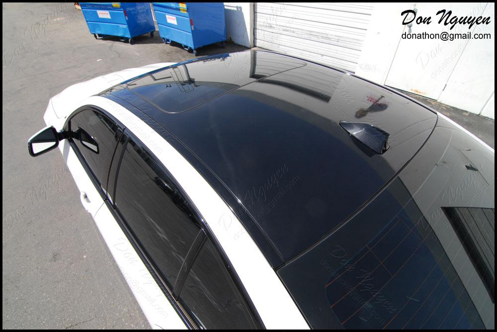 Don Nguyen Gloss Black Vinyl Roof Wrap White F10 550i