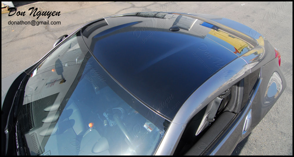 Don Nguyen Gloss Black Vinyl Wrapped Roof Silver 370z