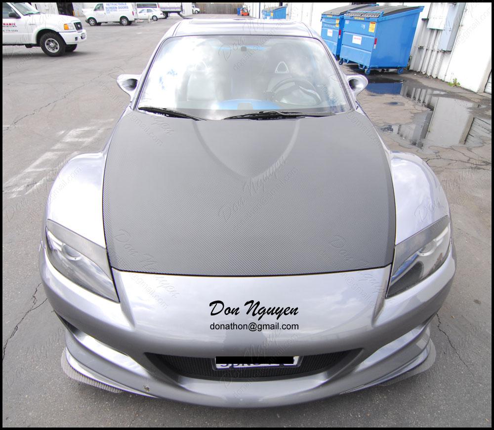 Car Vinyl Wrap Cost >> Don Nguyen   3M Di-Noc carbon fiber vinyl wrap on gray RX ...