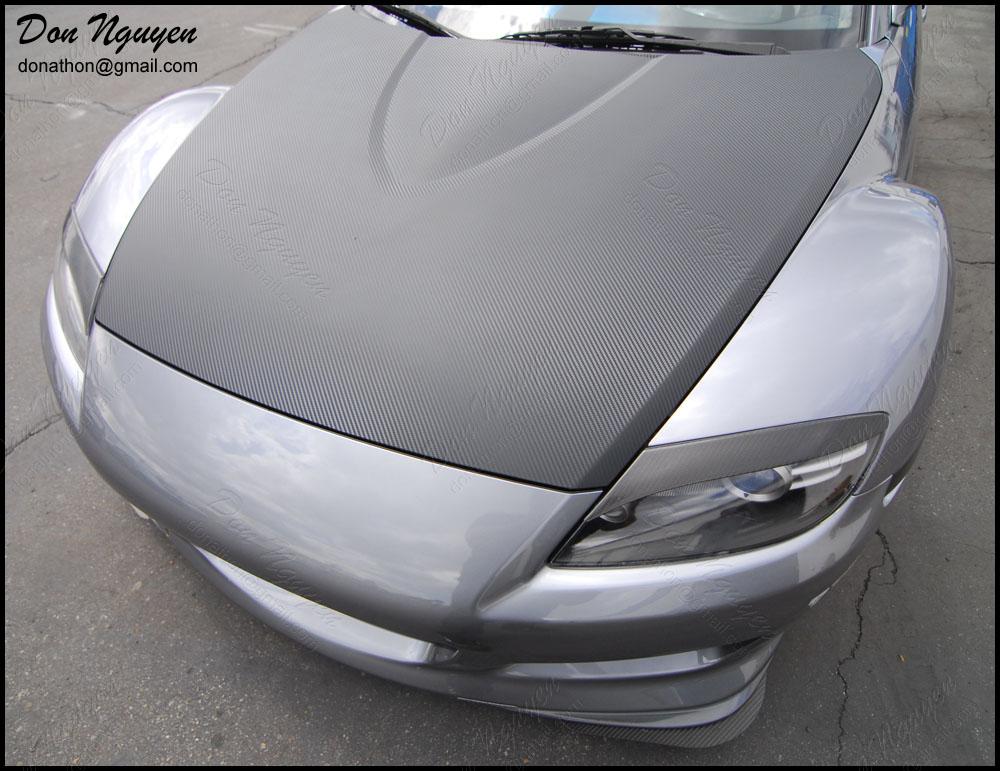 Don Nguyen | 3M Di-Noc carbon fiber vinyl wrap on gray RX ...