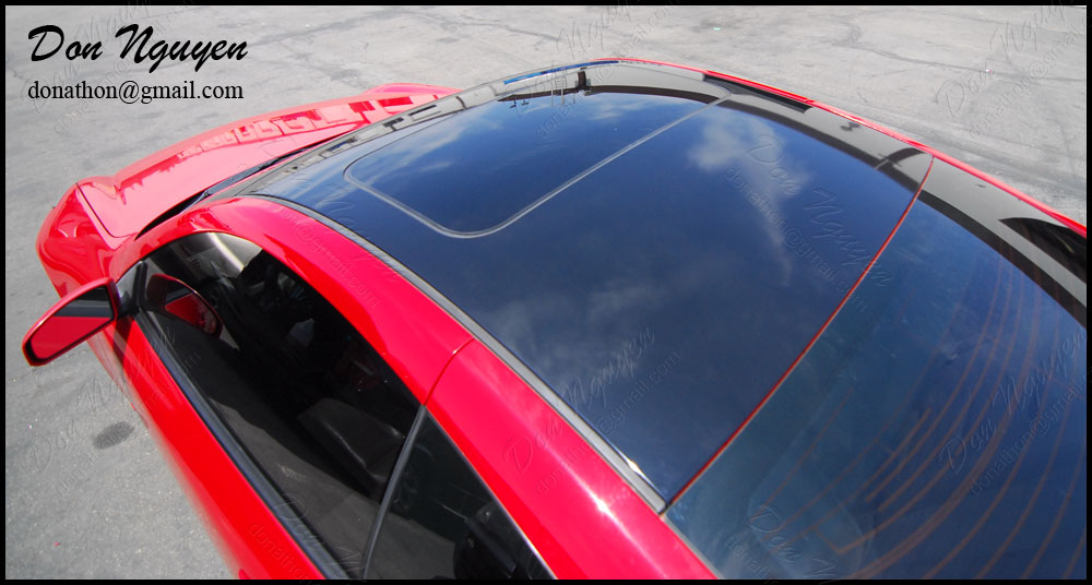 Don Nguyen Gloss Black Vinyl Roof Wrap On Red G35