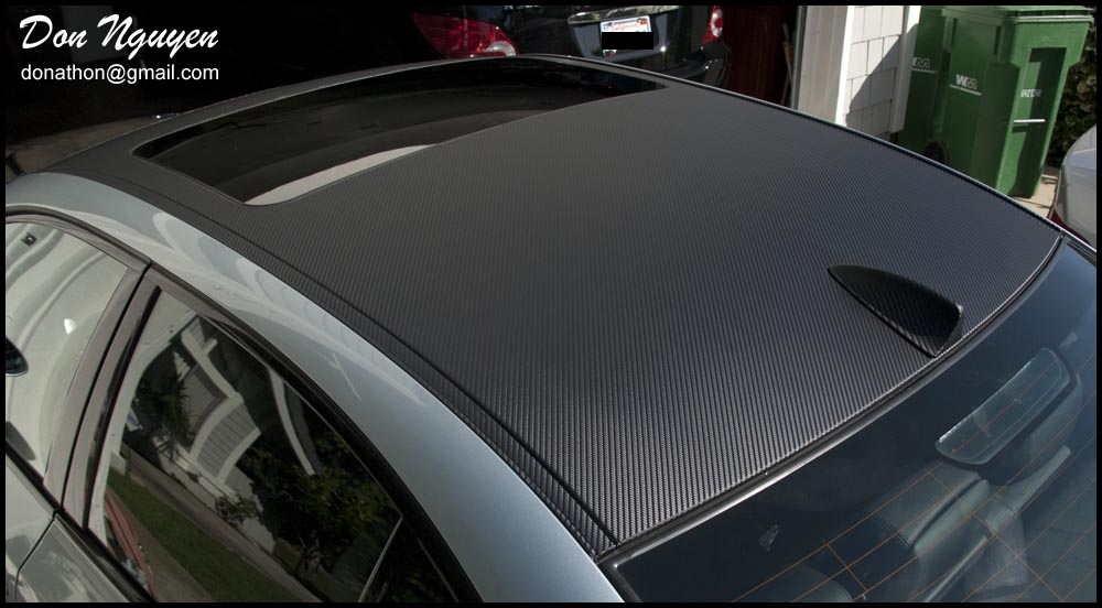 Is A Roof Wrapped In Carbon Fiber Vinyl Ricey Bmw M5